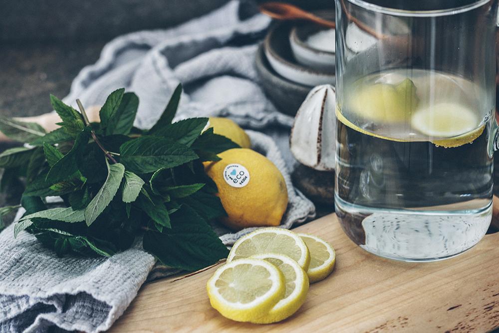 citron, mynta