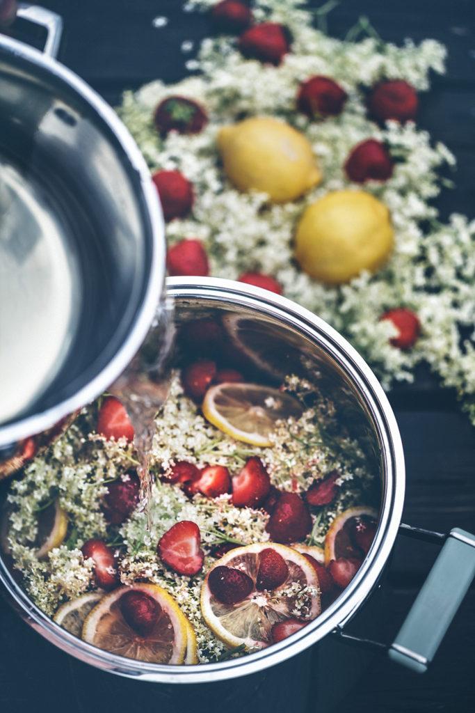 recept fläder och Jordgubbssaft