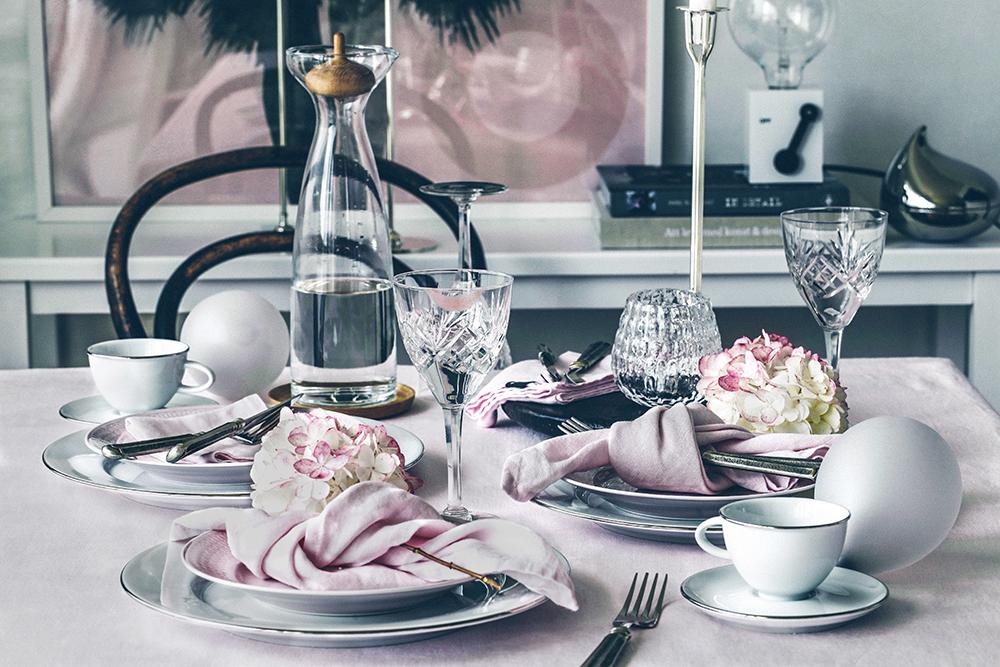 Rosa månad … rosa dukning