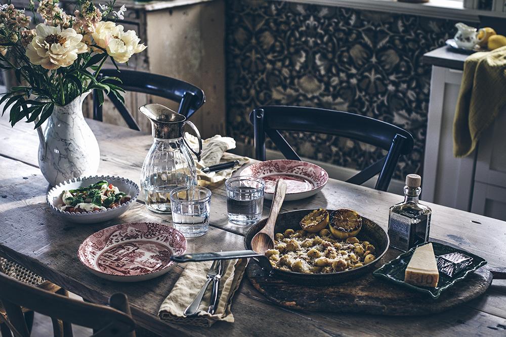 Recept, Dukning, Spode, Himla