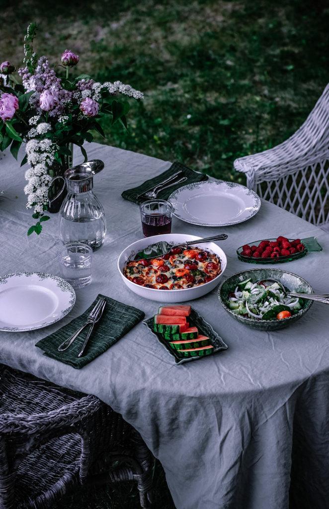 ost- och grönsakspaj, svenskt tenn