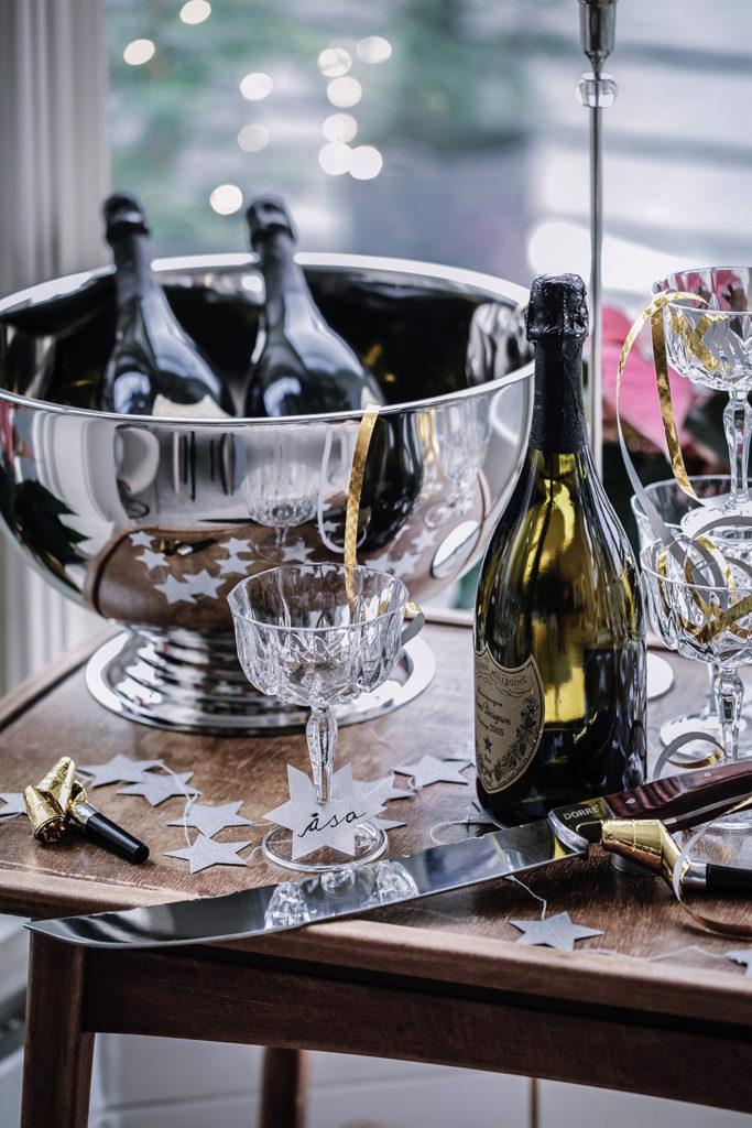 Nyårsdukning, Cervera, Champagne